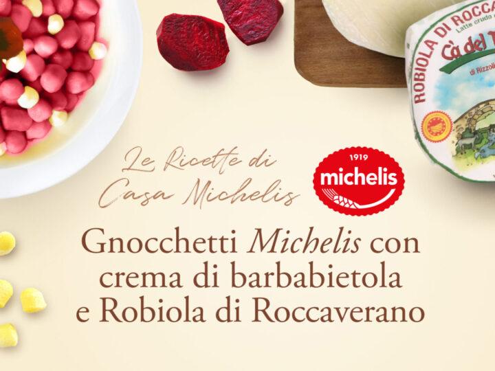 Gnocchetti Michelis con crema di barbabietola e Robiola di Roccaverano